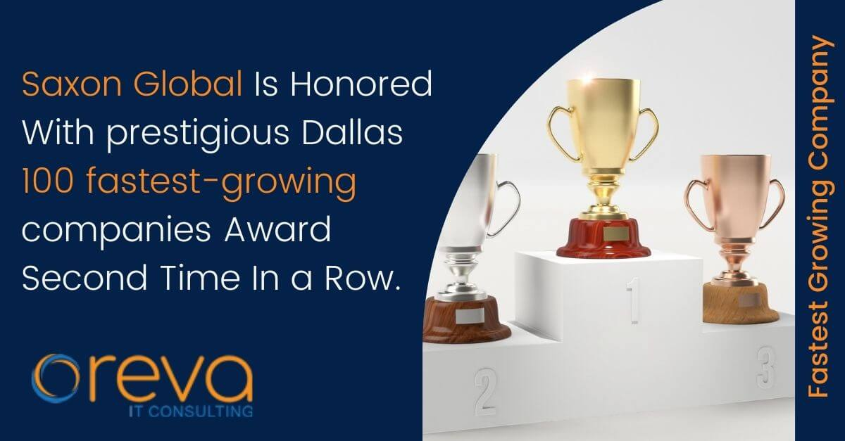 Saxon Global Is Honored With prestigious Dallas 100 fastest-growing companies Award Second Time In a Row.